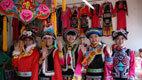北川和谐旅游禹羌情民族手工羌绣工艺品儿童服装
