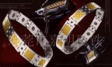 不锈钢磁首饰 吊坠面包磁 光波石 手链磁铁