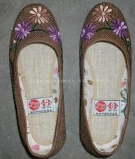 麻布绣花鞋01