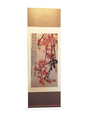 蜀锦礼品 梅花图卷轴