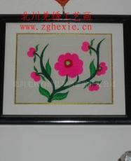 上海世博会北川纪念品羌绣工艺画