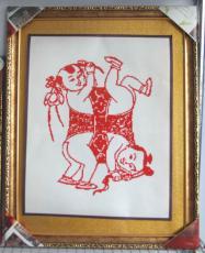 于氏立體刻紙 四喜娃娃 民間工藝品 喜慶禮品 手工工藝