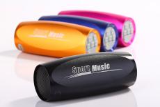 新款-便攜式帶收音機 MP3迷你插卡小音箱小音響摩托車 自行車運動小音響 小音箱
