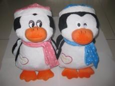 Plush toys penguin with heartbeat box