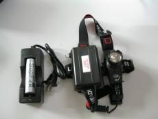 强光手电筒 cree q5 led 充电 远射18650电池头灯