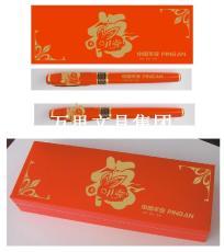 萬里制筆廠長期現貨紅瓷筆 中國紅筆簽字筆 中國紅筆 套裝現貨中國平安紅筆
