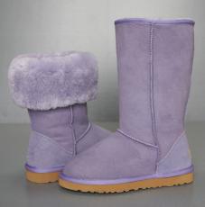 5815皮毛一体雪地靴紫色
