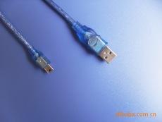透明蓝USB AM对MINI USB 5P高编数据线