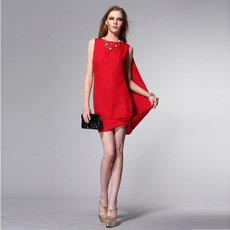 勞倫希爾2012夏裝歐美風格 三色經典禮服裙
