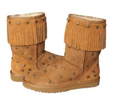 雪地靴皮毛一体