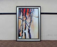YK055 歐式油畫客廳有框畫 現代裝飾畫 純手工畫定制 風景油畫