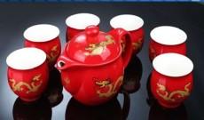 幸福一家古白瓷茶具