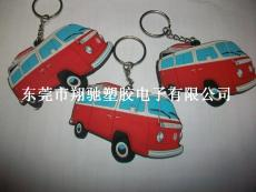 廠家批發供應大Q吧汽車軟膠鑰匙扣 鑰匙飾品批發