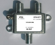 IPTV splitter 2 way splitter HPNA compatible with OEM IPTV