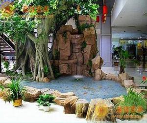 黑龙江佳木斯室内假山鱼池景观最新流行