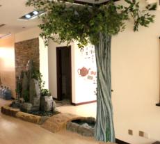 佳木斯室內微型魚池假山景觀雕塑