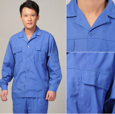Blue work clothes