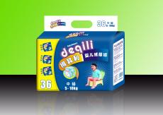 得其利36片M码超薄蓝芯片纸尿裤 货号 DQL619