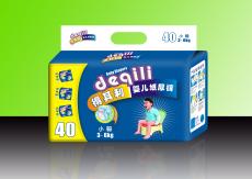 得其利40片S码超薄蓝芯片纸尿裤 货号 DQL620