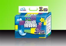 得其利32片L码超薄蓝芯片透气纸尿片 货号 DQL614
