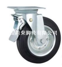 鐵芯黑橡膠輪