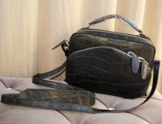2013新品斜跨手提女包 復古品質高檔真皮鱷魚紋時尚歐美風格