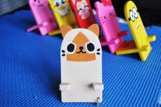 厂家生产直销PVC卡通手机座规格和LOGO可定制