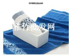 雅竹自主品牌竹纤维青花瓷毛巾