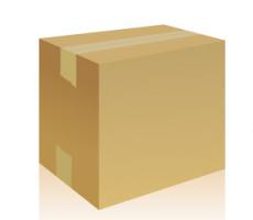 空白牛皮纸箱