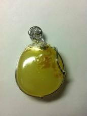 925銀鑲嵌琥珀吊墜