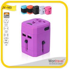 2014 Universal travel adapters with two USB