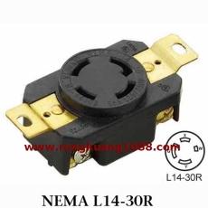 WJ-6430B 30A 125/250V NEMA L14-30 工業插座 美規接線插座