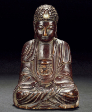 清朝 黃楊木雕佛像 尺寸高11.5cm