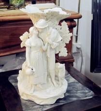 雕塑 歐洲白凡磁雕塑