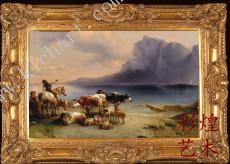 贵州动物油画黄牛
