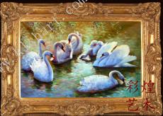 白鸭子油画定做
