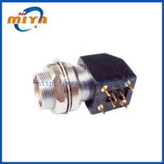 S系列90度彎角式插座 雙螺母機箱內外固定 適用于印刷線路板