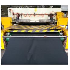 Leather/PU car seat cover cutting machine/ plane seat cover press machine
