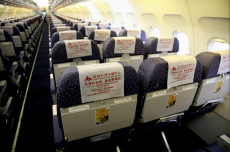 The plane seat headrest