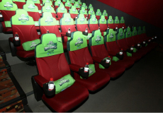 The cinema advertising chair caps