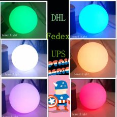 RGB Dinner Table , Ball Led Lamp Battery and Remot for Night club, pub, home, party,event