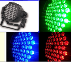 LED Parcan light 54 * 3W  3in1 led stage par light