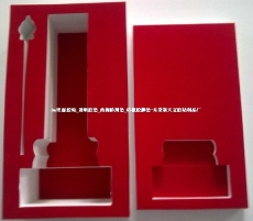 EVA防护盒背红色绒布