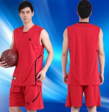 2016 新款运动男款篮球服 运动篮球衣训练服队服套装* 印号印字定制