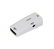 VKBAND HDMI to VGA Converter Adapter with 3.5mm Audio Port for PC Laptop DVD