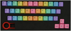 ABS 37 彩虹鍵帽 淡彩 中彩 重彩 正刻/側刻