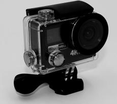 MASSWELL Pro 4K HD 12MP Dual Screen Action Camera Sport Video Cam 170 Degree Lens 360 VR Camera VR