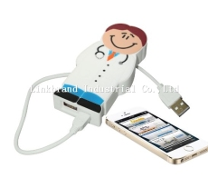 Customized Molded Rubber Power Bank 2600mAh available