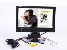 9寸液晶车载显示器 倒车优先功能 二路 视频输入 液晶屏 JD-09i 监控器
