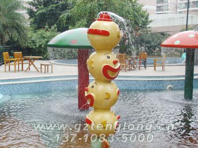兒童水上樂園設備 小丑噴水